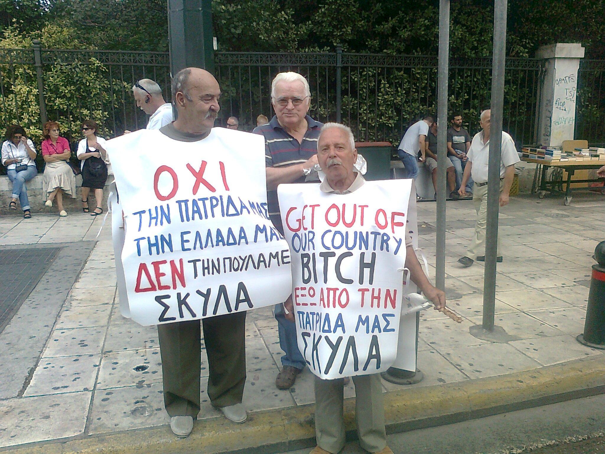 elderly protesters