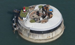 Spitbank Fort in the Solent near Portsmouth