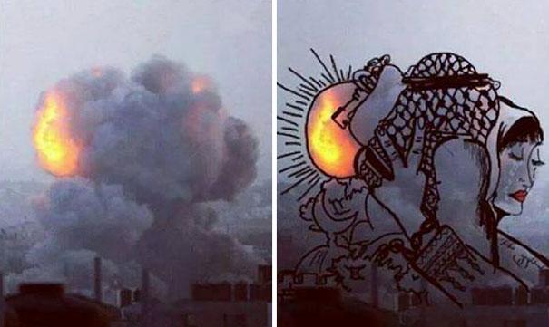 palestine-israel-rocket-strike-smoke-pareidolia-art-11