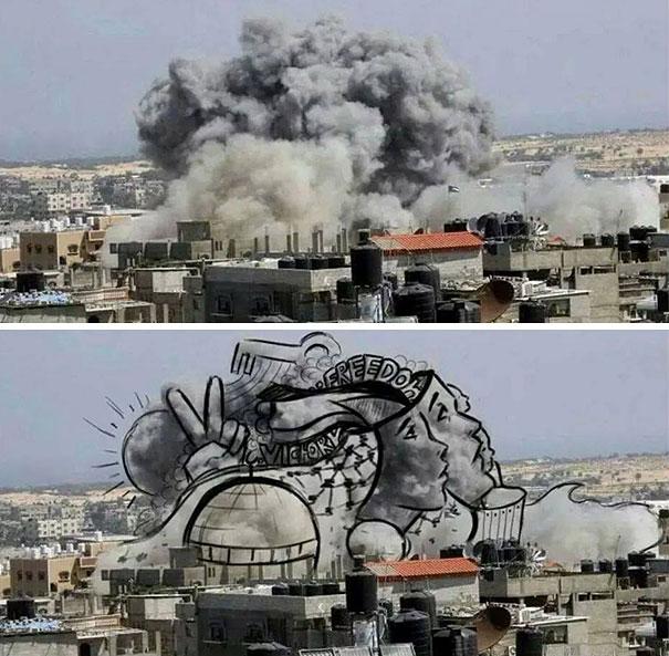 palestine-israel-rocket-strike-smoke-pareidolia-art-3