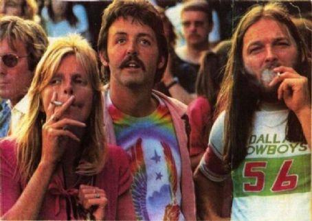 GilmourMcCartney: Ο David Gilmour με το ζεύγος McCartney