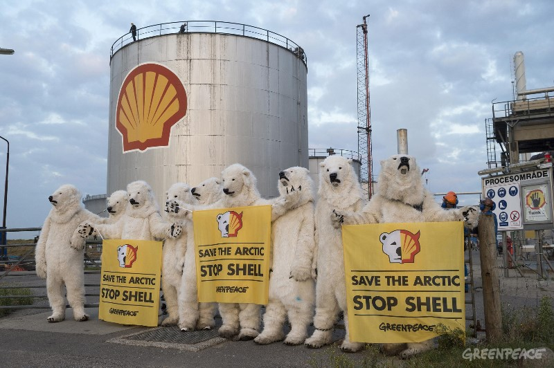 Action At Shell Oil Refinery, Denmark