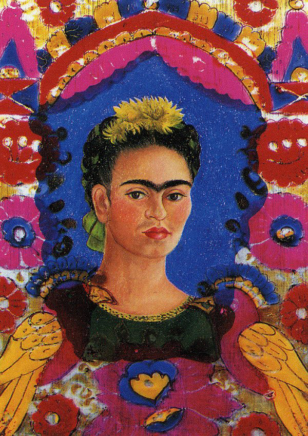 self-portrait-the-frame frida kahlo
