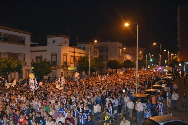 Πορεία διαμαρτυρίας των φιλάθλων της ομάδας στους δρόμους της πόλης