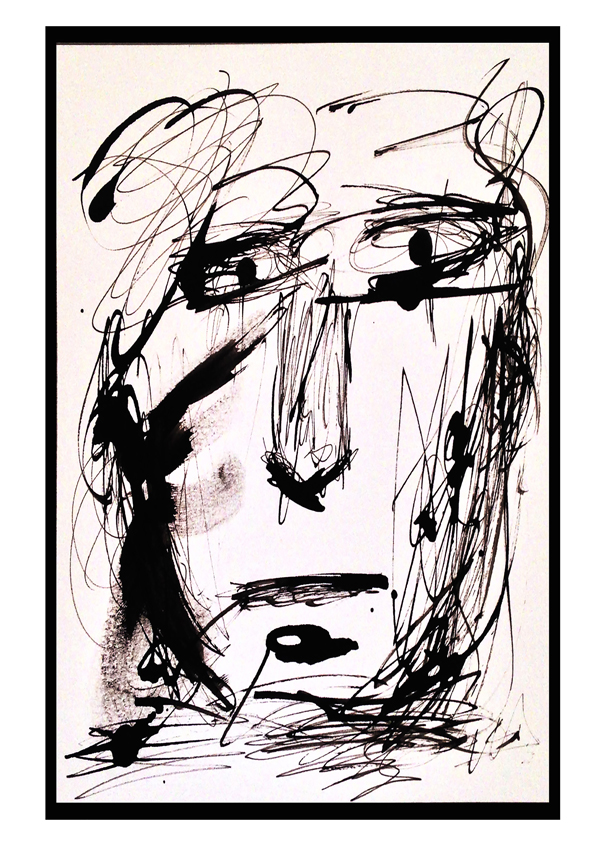 Inspiration Face with Indian Ink