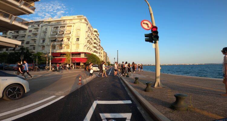 Νέος ποδηλατόδρομου λεωφόρου Νίκης